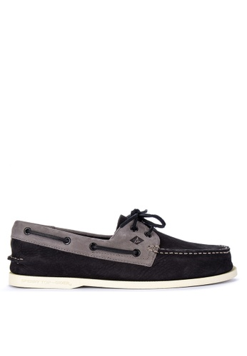 Sperry black A/O 2-Eye Washable Boat Shoes 5693ASH5BF8DE7GS_1