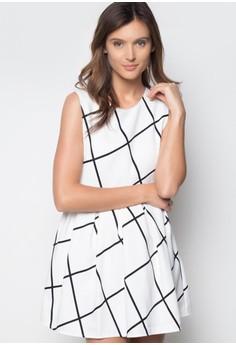 Black Lines Nadine white Dress