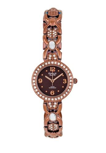 JES6esprit女裝24BRW 時尚水鑽細鏈手錶, 錶類, 不銹鋼錶帶