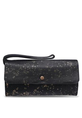Desigual black Reversible Metal Splatte Wallet DE160AC0RK02MY_1