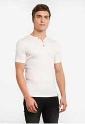 Indicode Jeans white Emanuel Ribbed Grandad T-Shirt IN815AA0ROMDMY_1