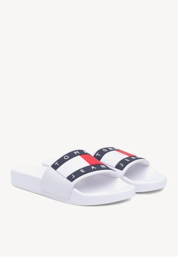 58cf7e411f0 Buy Tommy Hilfiger Tommy Jeans Flag Pool Slide Online on ZALORA Singapore
