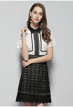 281d0cf080 20% OFF Sunnydaysweety Luxury New Black And White Stitching Dress CA052103  HK$ 770.00 NOW HK$ 618.00 Sizes S M L