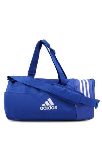 adidas blue adidas Convertible 3-Stripes Duffle Bag 41B46ACA4F64EFGS_1