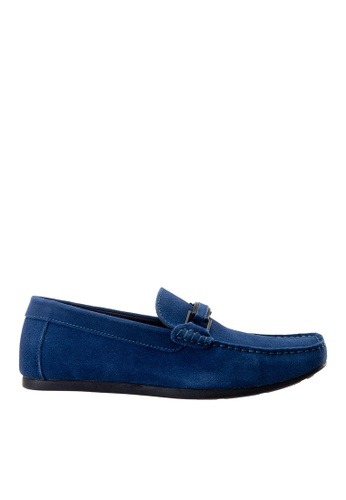 Hush Puppies blue Hush Puppies Men's Borgen Loafer - Blue 55DE9SHFE9CB19GS_1