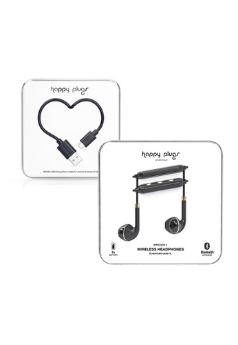 happy plugs black and gold Happy Plugs Wireless II  - Black Gold + Happy Plugs Lightning to USB Charge/Sync Cable (2.0m) - Black 915D0AC5F0EB6DGS_1