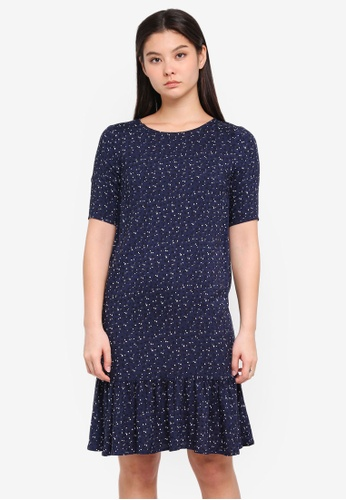 ICHI blue Rose Dress E186EAA90F3CE9GS_1