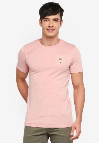 Jack & Jones pink Midnighty Tee BB457AA5C81299GS_1