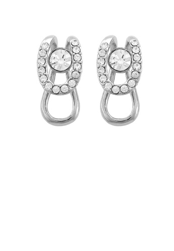 Glamorousky silver Stylish Earrings with Silver Austrian Element Crystals 340F3AC3730A3BGS_1