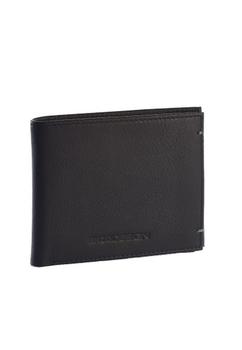 ENZODESIGN black and green Ultra Soft Cow Nappa Leather Wallet(With Center Divider) EN115AC86ZSZPH_1