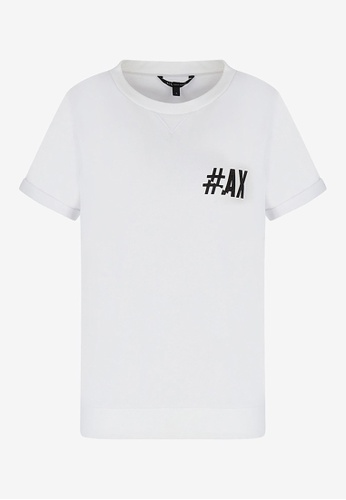 Armani Exchange white AX Armani Exchange Women Crewneck Short Sleeves Sweatshirt - Spring & Summer 2021 Collection E68FEAA9250368GS_1