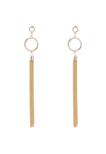 Vero Moda gold Solvej Long Earrings 529CCACB3EEE14GS_1