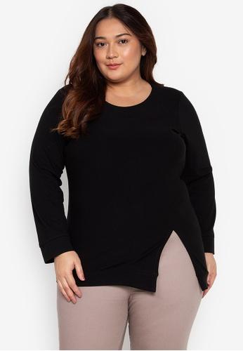 687dc49c Audrey black Plus Size Bella Blouse 0319BAA6C5357AGS_1. CLICK TO ZOOM
