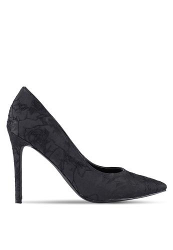 ZALORA black Fabric High Heels 5201AZZ5CA98F7GS_1