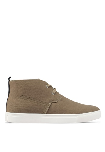 JAXON green Canvas High Top Sneakers B20C1SH48749DEGS_1