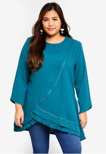 BYN green Plus Size Muslimah Blouse 370DCAAD9800FEGS_1