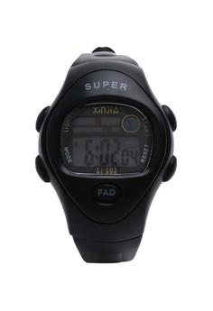 Digital Waterproof Watch XJ-663 BK