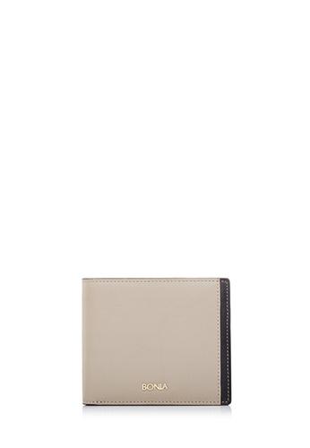 BONIA brown Khaki Astor Short Two Fold Wallet 777EFACCA9F822GS_1