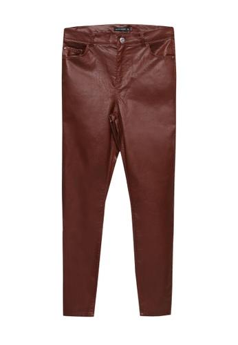 LC Waikiki brown Ankle Length Skinny Trousers BD138AAE50DFA1GS_1