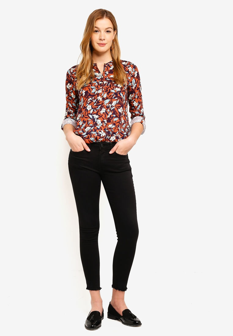 Sleeve ESPRIT Blouse Long Woven Brown Bww0T