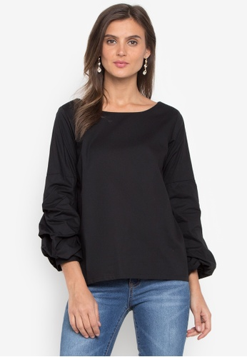 CANVAS black Top Carrie Flare Wide Sleeve A9759AA81C6582GS_1