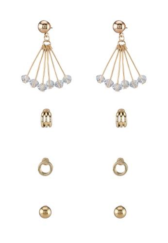 Red's Revenge gold Z42 Assorted Earrings Set RE144AC0SSV1MY_1