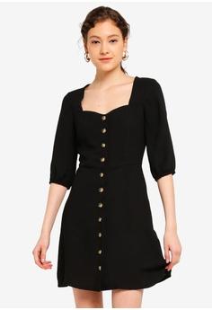 d552f4a1a Lipsy black Black Historic Button Through Dress 6E31AAA16F277CGS_1