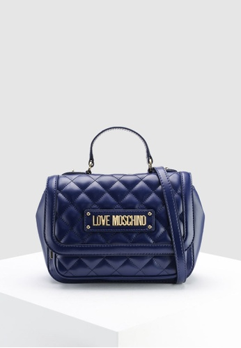 13304843e76 Buy Love Moschino Quilted Top-Handle Bag Online | ZALORA Malaysia