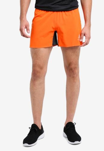 Odlo red and orange Zeroweight X-Light Shorts AC2BEAA91A4DE2GS_1