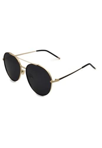 jojo black Oversized Round Aviator Polarized Sunglasses A169DGL5535ED7GS_1