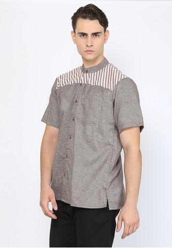 Allev brown Furqan Shirt - Coklat EE357AAB08DE20GS_1