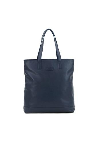 Kawamura blue Lotuff Shopper Tote Bag  - Navy KA871AC91HZOHK_1