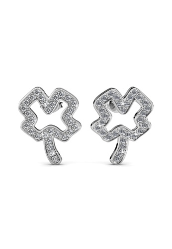Her Jewellery silver Shamrock Earrings -  Made with premium grade crystals from Austria HE210AC0H97DSG_1