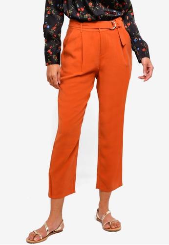Hopeshow brown Slim Fit Capri Pants 43253AA2EABEAFGS_1