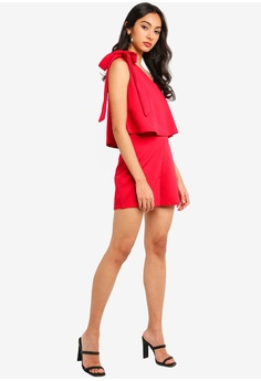 c39737b78555 34% OFF MISSGUIDED One Shoulder Bow Playsuit S  46.90 NOW S  30.90 Sizes 6  8 10 12 14