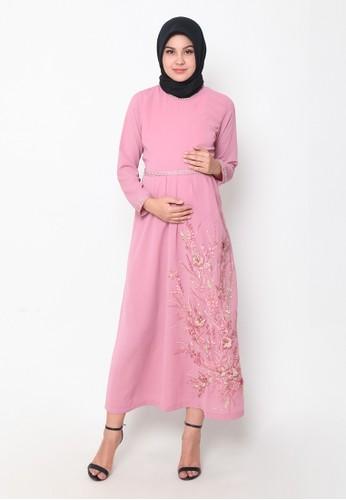 Chantilly pink Maternity/Nursing Dress 53037 074D8AA35C24B3GS_1