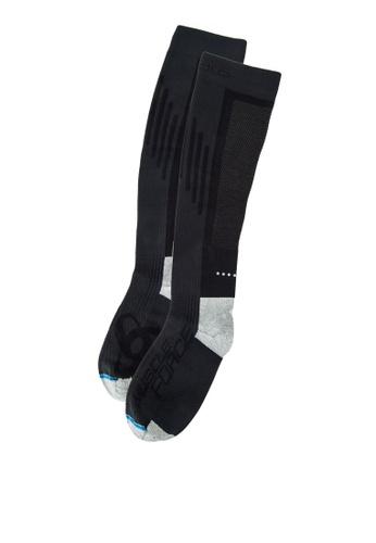 Odlo black Extra Long Running Muscle Force Socks OD608AC09KBIMY_1