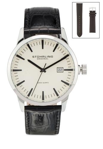 Stuhrling Original black Stuhrling Watch Set 555A.03.CF 49A5DAC6DAFC79GS_1