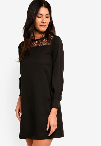 ZALORA black Balloon Sleeves Shift Dress 76BB0AAE94056DGS_1