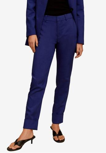 Mango blue Rolled-Up Hem Trousers 918F1AA266F706GS_1
