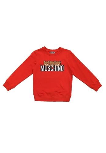 MOSCHINO BABY KID TEEN red MOSCHINO KIDS SWEATSHIRT AE326KA3412752GS_1