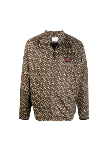 BURBERRY brown Burberry Monogram Print Technical Twill Jacket in Bridle Brown 8914DAAD1CD828GS_1