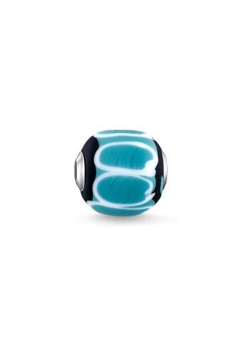 """THOMAS SABO silver Bead """"Glass Bead Turquoise, black, white"""" 22835ACCE34C7DGS_1"""