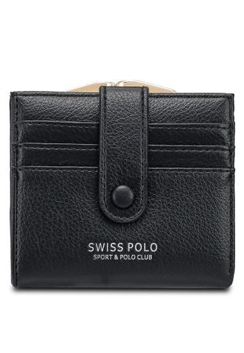 Swiss Polo black Plain Mini Purse B0730ACAC0CF16GS_1