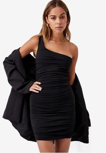Supre black Miley Ruched Mini Dress 654F1AA41FE961GS_1