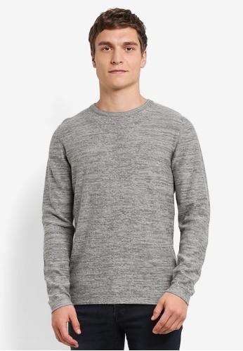 Jack & Jones grey Fargo Knit Sweatshirt JA987AA0S5O6MY_1