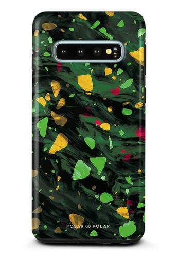 Polar Polar green Malachite Terrazzo Gem Dual-Layer Tough Case Glossy For Samsung Galaxy S10 CE12DAC770DEABGS_1