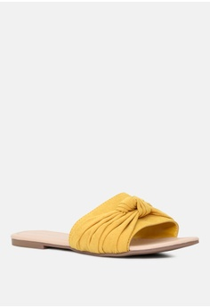 2019311857cd 9% OFF London Rag Knotted Flat Sliders S  32.99 NOW S  29.99 Available in  several sizes