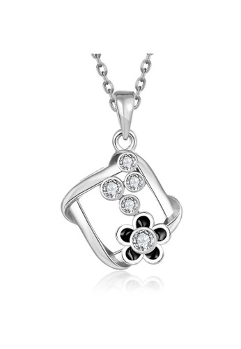 Tiaria white Tiaria Gold Plated Necklace Pendant Party KRGPN882-C--K10 40F85ACC030392GS_1