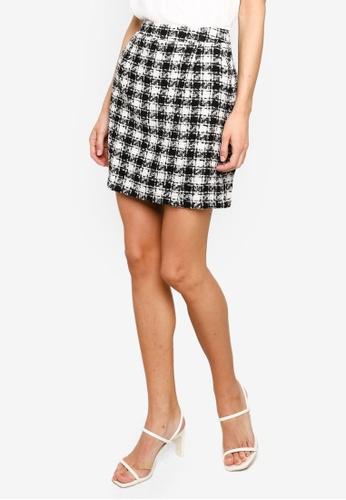 FORCAST multi Brielle Tweed Check Skirt 5DDABAA148AB70GS_1